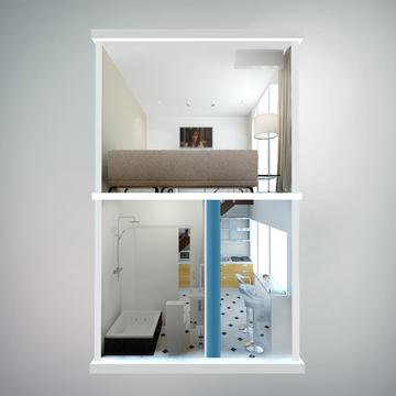 2-х уровневая студия в новом жилом доме. - Фото 5