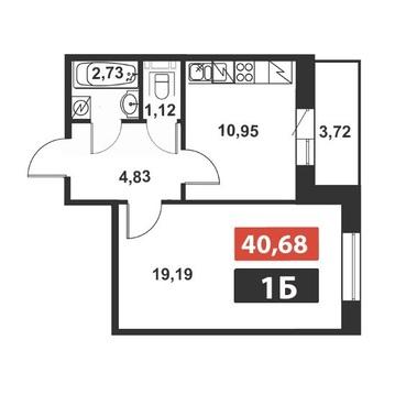 Продам: 1 комн. квартира, 41 кв.м, м.Выборгская - Фото 2