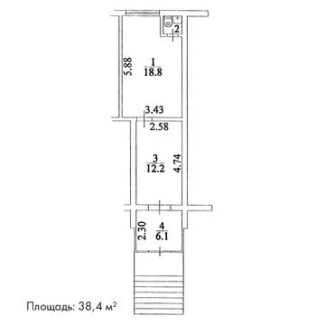 Продажа арендного бизнеса 38.4 м2, м. Отрадное - Фото 2