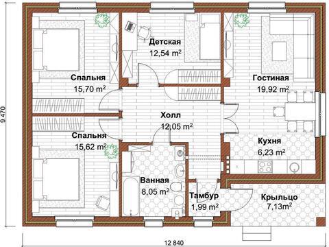 Дом 100 кв.м, пос. Акбердино - Фото 3