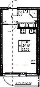 Объявление №44471551: Квартира 1 комн. Шушары, Валдайская ул., 1,