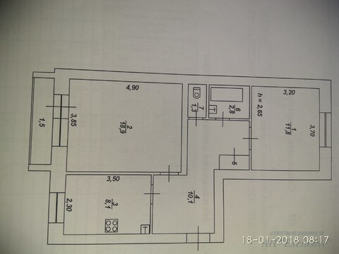 Двухкомнатная квартира г.Тверь, ул.Бакунина д.31 - Фото 1
