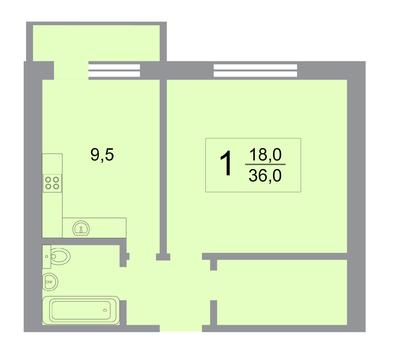 Уютная однокомнатная квартира в Новой Москве - Фото 2