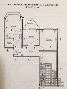 Трехкомнатная квартира в Москве, проспект Защитников Москвы - Фото 2