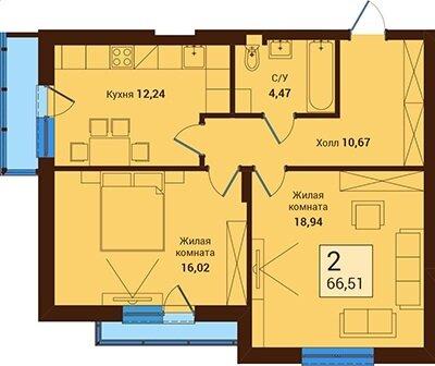 Продажа квартиры, Калининград, Ул. Орудийная - Фото 1