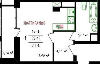 ЖК «Парк-Университет» , Владимир, Мира ул, д.4 гп(2г), Квартира на . - Фото 1