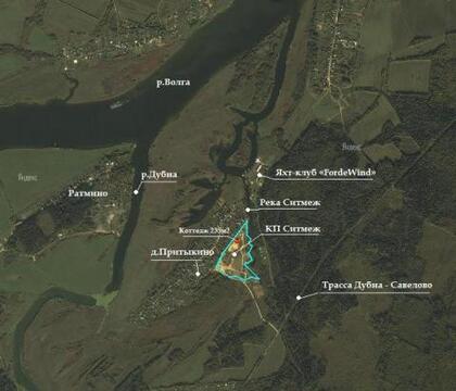 Зем.участок на 1-ой линии д.Притыкино, 15,44сот - Фото 3
