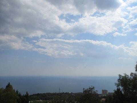Земельный участок 10 соток, с шикарным видом на море, в Никите - Фото 1