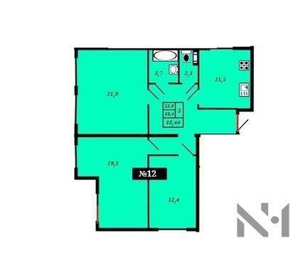Продается большая 3-к. кв. в доме комфорт класса на берегу озера - Фото 4