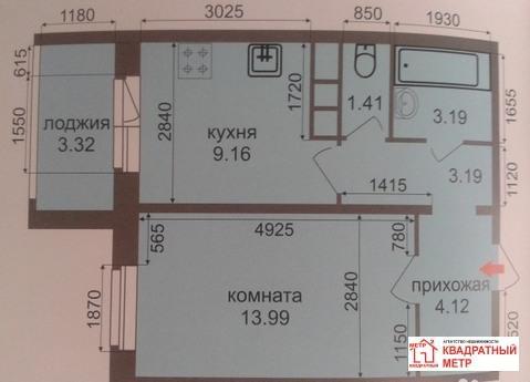 1-комнатная квартира ул. Строителей д. 26 - Фото 1