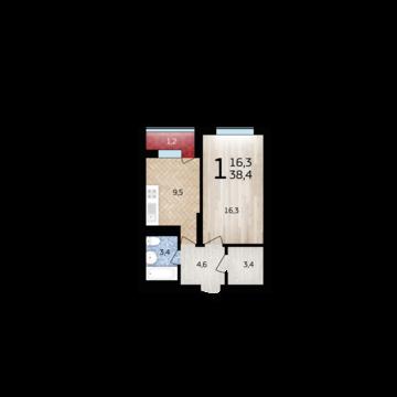 Однокомнатная квартира в ЖК Уфимский кремль - Фото 1