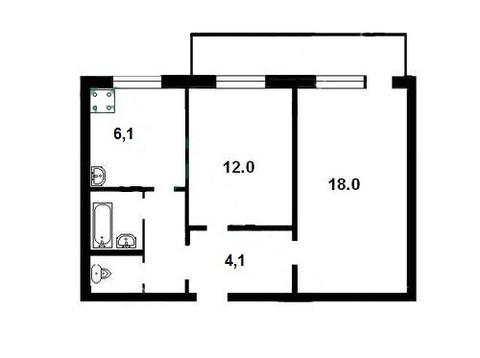 Предлагаю купить 2-комнатную квартиру на Северо-Западе Курска - Фото 1