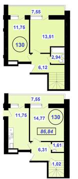 3-х комнатная квартира в центре города в двух уровнях! - Фото 3