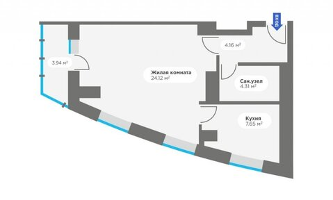 Продажа 1-комнатной квартиры, 43.13 м2, г Киров, Калинина, д. 405, к. . - Фото 4