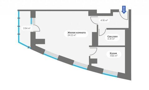 Продажа 1-комнатной квартиры, 43.13 м2, Калинина, д. 405, к. корпус 5 - Фото 4