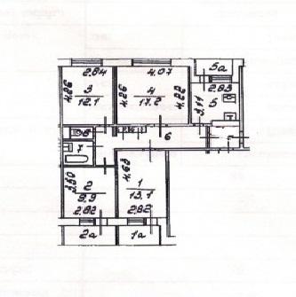 Продается 4-комн. квартира ул. Кастанаевская, д.56