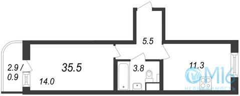 Продажа 1-комнатной квартиры, 35.5 м2 - Фото 2