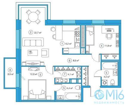 Продажа 2-комнатной квартиры, 74.18 м2 - Фото 1