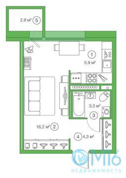 Продажа квартиры-студии, 29.69 м2 - Фото 2