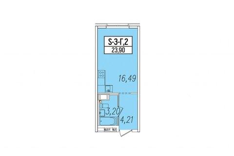 Объявление №43749332: Квартира 1 комн. Санкт-Петербург, ул. Салова, 61 лит. А,