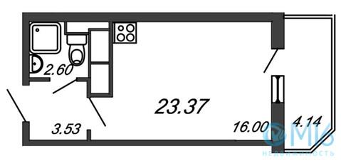 Продажа студии, 23.37 м2 - Фото 2