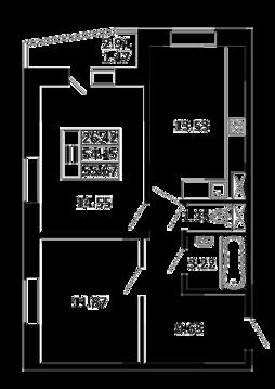 2-комнатная квартира 55,62 кв. м. в ЖК Никольский посад