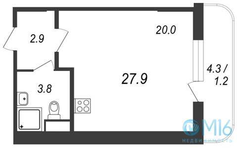 Продажа квартиры-студии, 27.9 м2 - Фото 2