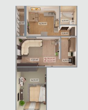 Квартира в новом кирпичном доме! - Фото 2