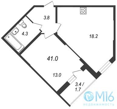 Продажа 1-комнатной квартиры, 41 м2 - Фото 1