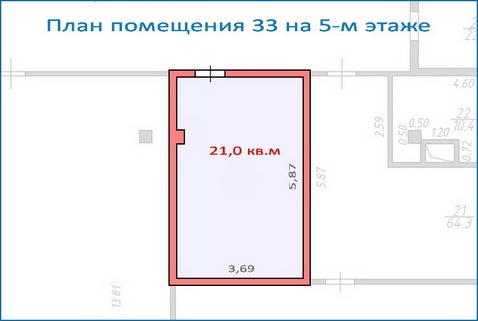 Помещение свободного назначения 21,5 кв.м в новом ТЦ, 6 км от МКАД - Фото 1