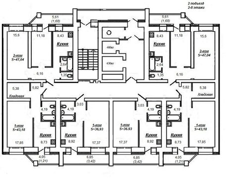 Продажа 2-комнатной квартиры, 47.5 м2, г Киров, Ленина, д. 202 - Фото 2