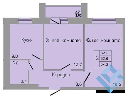 Бушмакина, 96 ,2 комн.кв - Фото 2