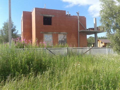 Ждп-563 зу 12 сот + дом недострой д.Талаево - Фото 3