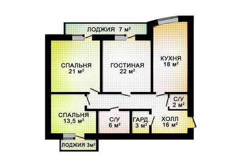 Трехкомнатные апаратаменты новый ЖК 5 минут метро Фрунзенская - Фото 2