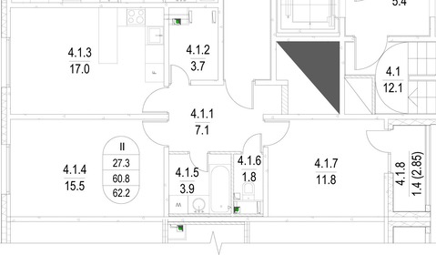 Продается 2-х комнатная квартира в ЗАО - Фото 1