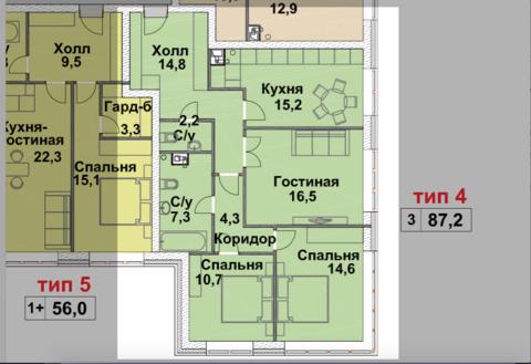Продажа 3х комнатной квартиры в доме бизнес-класса - Фото 1