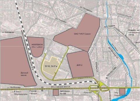 Продажа земельного участка 8,36 га в промзоне на ул. Чаадаева - Фото 1