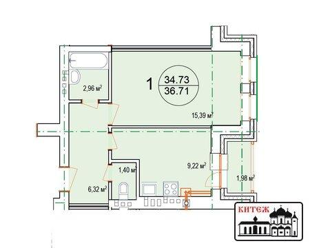 Продается 1-комн.квартира в новом 4-этажном кирпичном доме с инд.отоп. - Фото 2