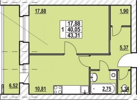 1-комнатная квартира у/п в Брагино(возможен обмен на 2,3х) - Фото 4