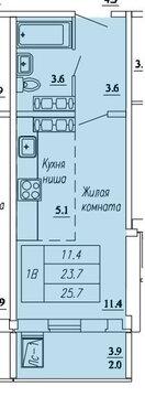 Продажа 1-комнатной квартиры, 25.5 м2, г Киров, Павла Корчагина, д. . - Фото 2