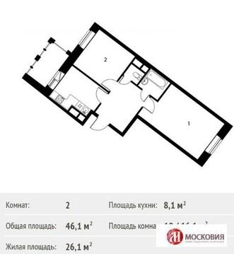 2ком.кв-ра в Новостройке 4км от МКАД Варшавское ш. дду-214, Ипотека. - Фото 3