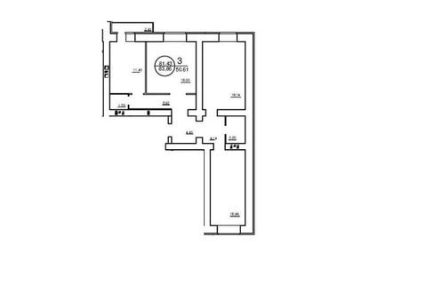3-к квартира в новостройке на 8 Дачной ЖК Жемчужина - Фото 3