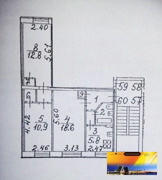 Трехкомнатная квартира у метро Черная речка в Прямой продаже - Фото 1