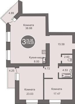 3 комн с большой кухней гостиной Широтная район мжк - Фото 2