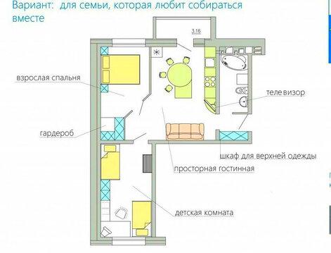3-комнатная в новостройке с панорамным видом на город. Дом сдан - Фото 1
