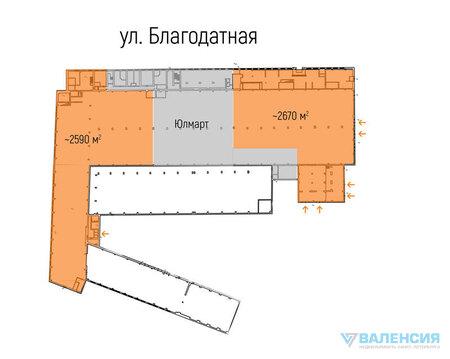 Сдается торговое помещения в Московском р-не, 2590м2, 1эт, - Фото 2