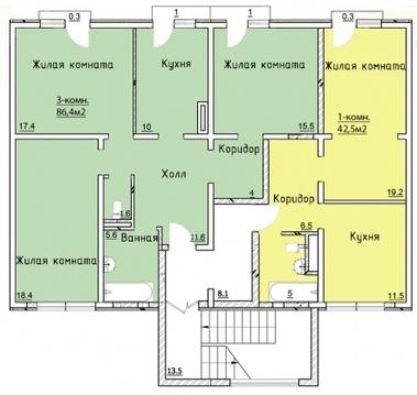 Продается 3 ком.квартира в эко-парк прилесье - Фото 4