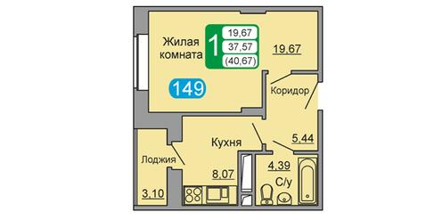 1 к.кв. г. Подольск, ул. Обьездная дорога, д.3