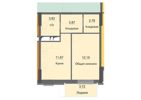 Продам 1-ую квартру в новостройке, ЖК Циолковский, 8 этаж - Фото 2