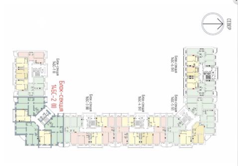 Академика Лаврентьева 11 однокомнатная возможна сделать двушку квартал - Фото 2